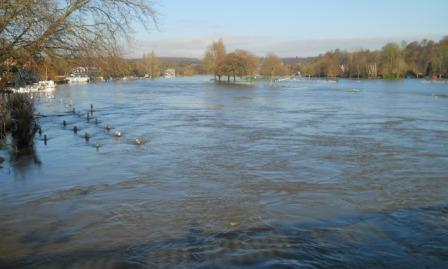Floods from Henley bridge Nov 2012