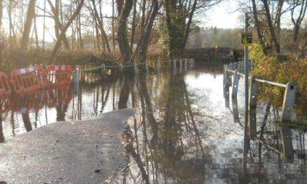 Remenham Lane flooded