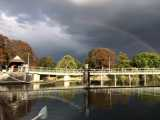 Storm Coulds over Sunbury Weir
